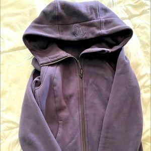 Purple Lululemon Scuba Hoodie jacket
